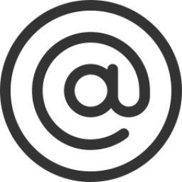 Email icon in black