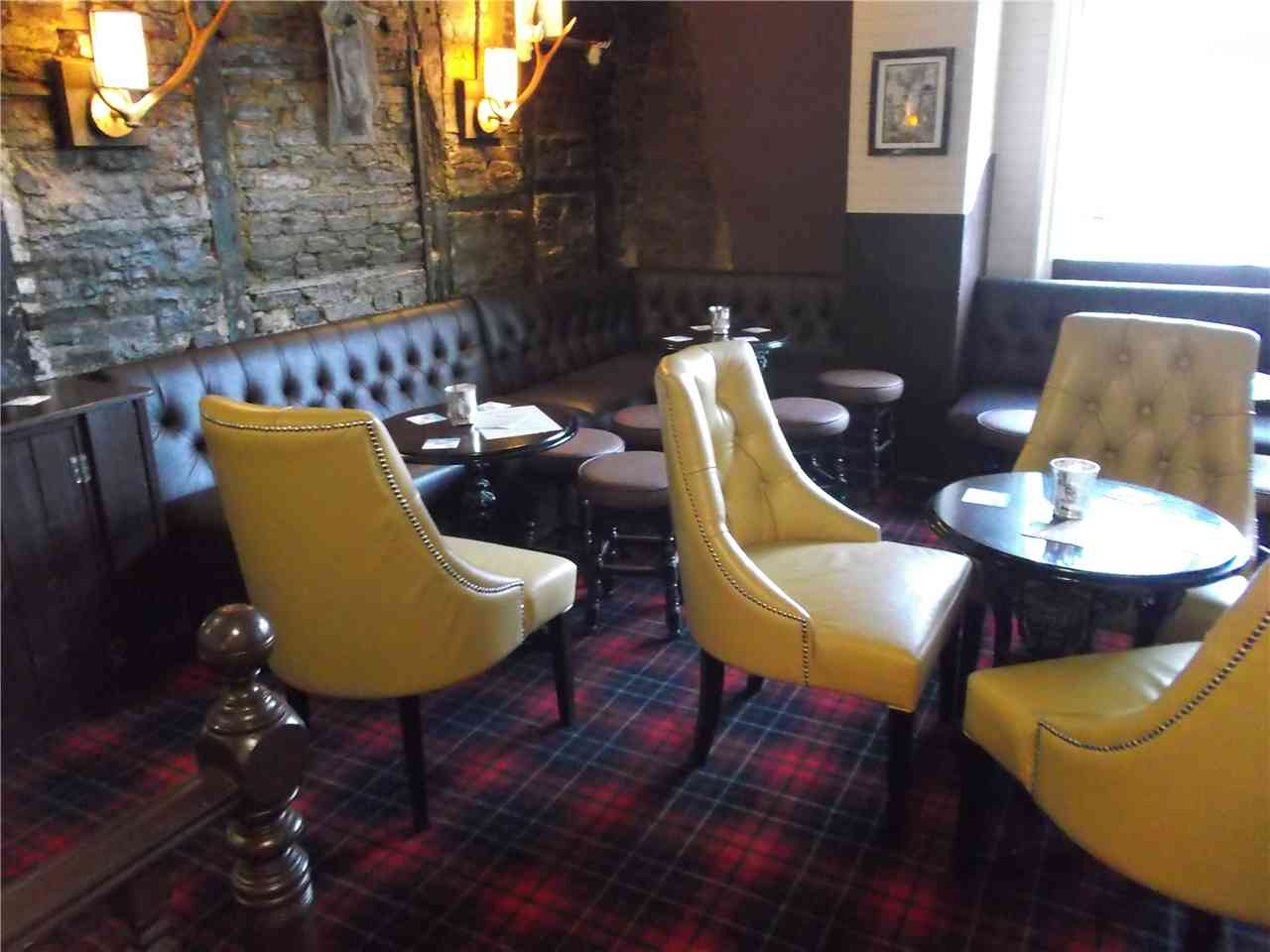 Bespoke lounge chairs in an old pub.