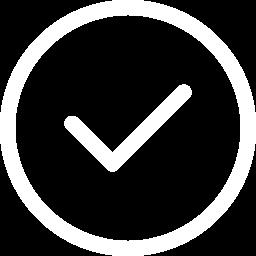White check-a-trade icon